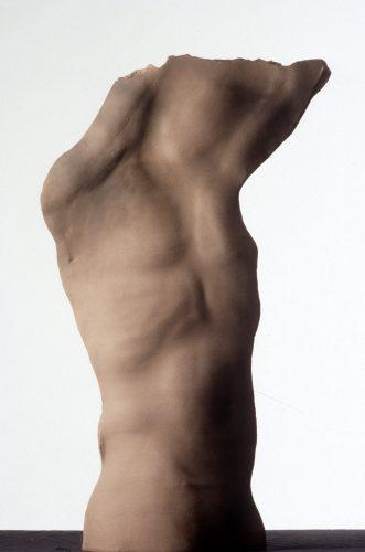 Red Man Arms Raised, 1988, ceramic