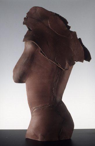 Red Winged Figure, 1988, ceramic