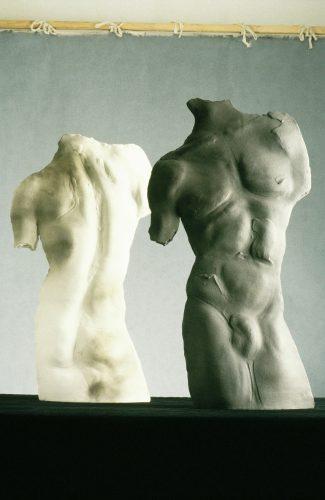 The Philadelphia Twins, 1991, ceramic
