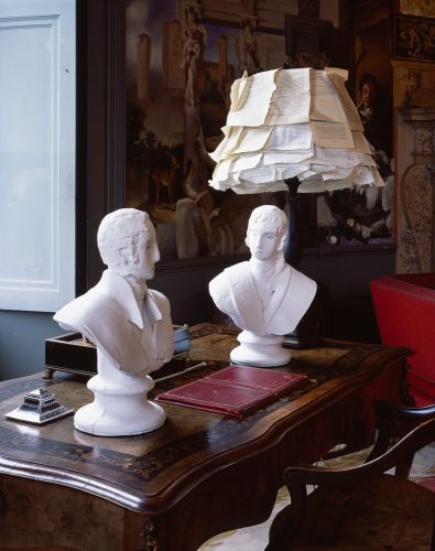 John and Eliza Soane  at Port Eliot, 2013, ceramic