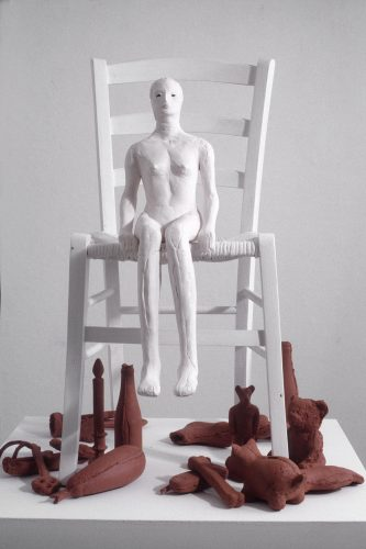 Collective Traces, detail, 2006, ceramic and mixed media