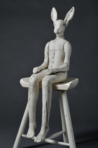 Seated Hare , 2011, ceramic