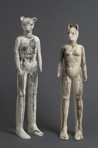 Lioness and Cat Woman, 2007, ceramic