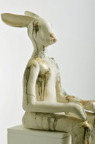 Danish Hare's Sister, detail, 2009, ceramic