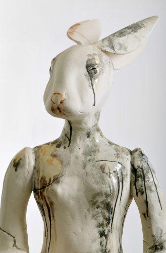Danish Hare's Sister, detail, 2009, ceramic