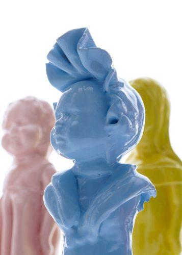 Caroline and Godfrey meet Dolls from Faraway, detail, 2018, ceramic