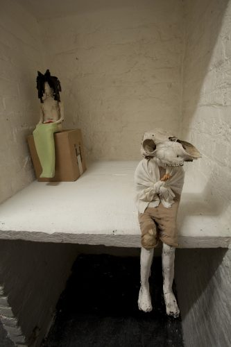 The Uncanny Playroom at Room Artspace, 2012, ceramic and mixed media