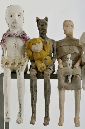 The Uncanny Playroom (detail), 2010,  ceramic and mixed media