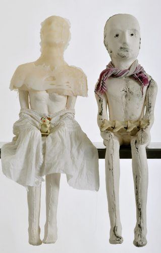 The Uncanny Playroom, detail, 2010,  ceramic and mixed media
