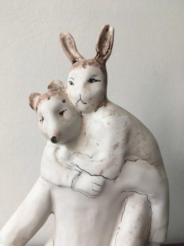 When Were You Under Me? (detail), 2019, ceramic