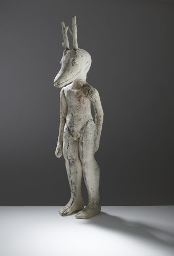 Careto Figure with Antlers, 2018, ceramic