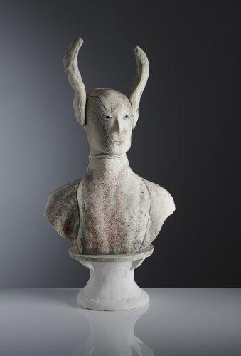 Serious Fledermaus, 2019, ceramic