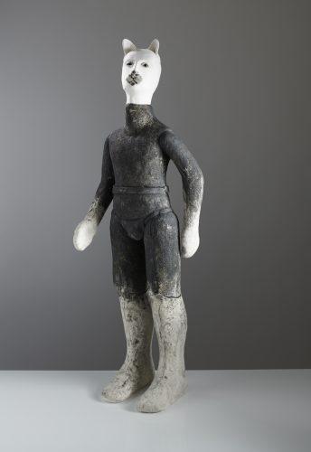 Black and White Katze, 2019, ceramic