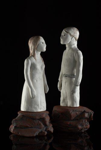 Secret Conversations: Romeo and Juliet, 2017, ceramic